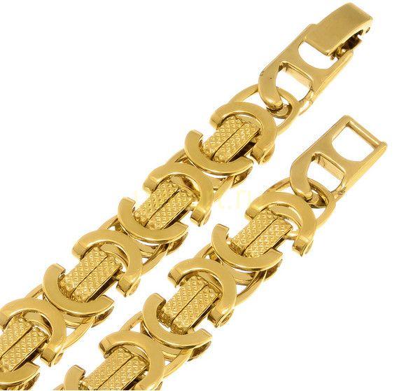 """Стильный позолоченный браслет """"Византия"""", 9 мм"""
