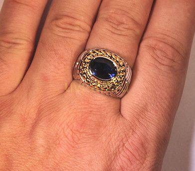 Другие фото Стильное позолоченное мужское кольцо