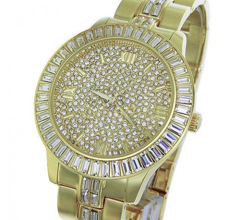 Другие фото Стильные мужские позолоченные часы Xanadu с кристаллами Сваровски